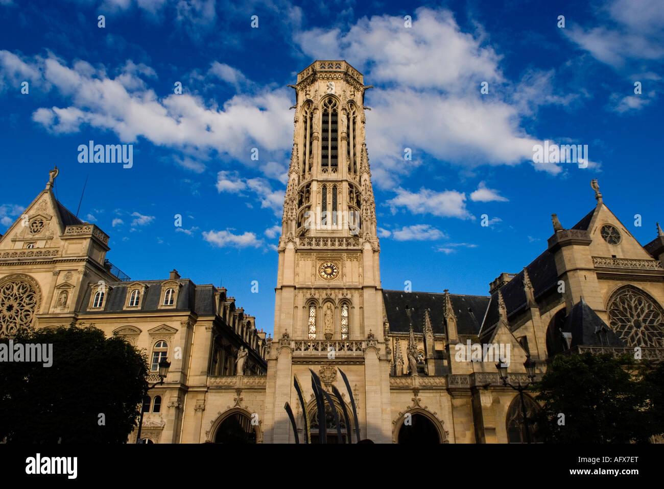 Saint Germain L Auxerrois Paris Stock Photo