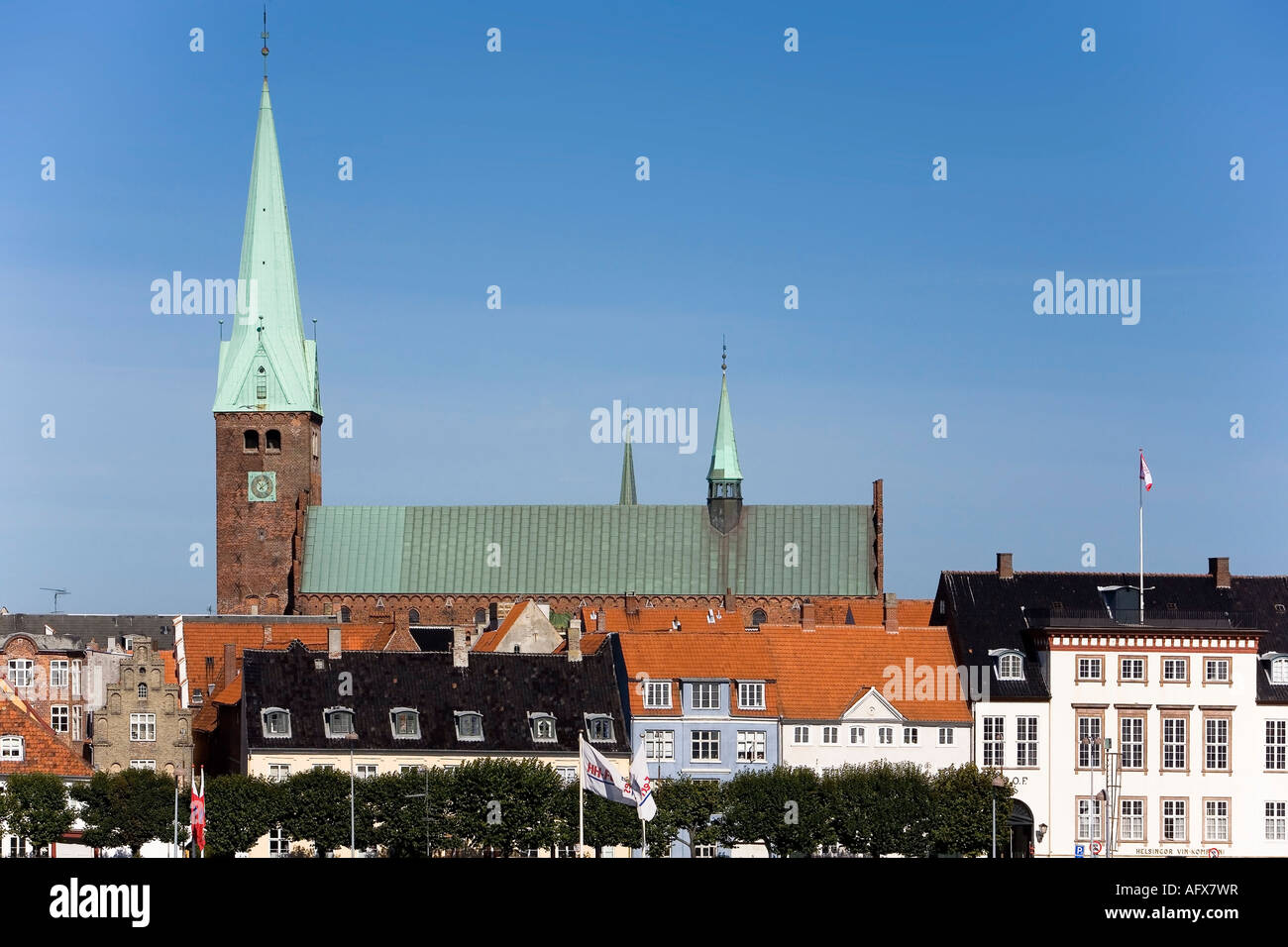 The cathedral in Elsinore - Stock Image