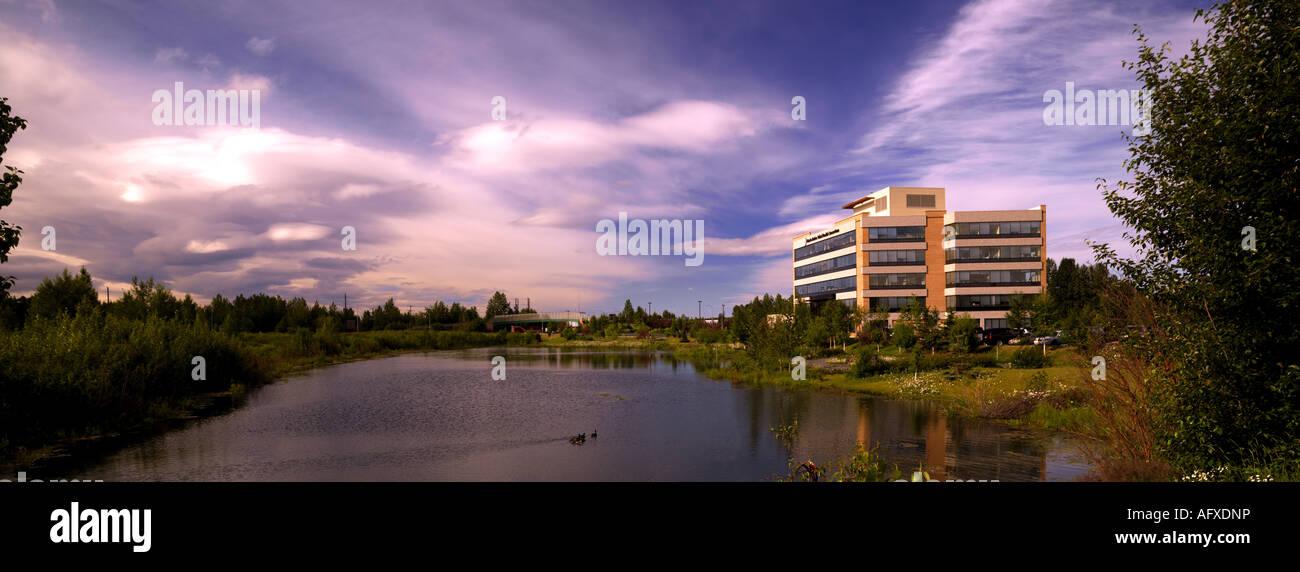 The Alaska Native Tribal Health Consortium building in Anchorage Alaska - Stock Image