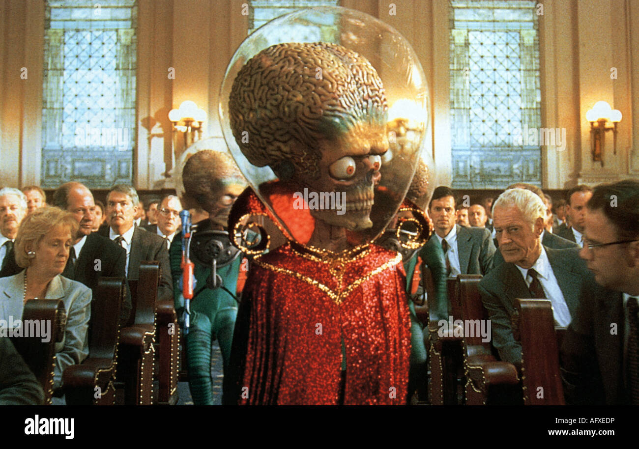 MARS ATTACKS - 1996 Warner film - Stock Image