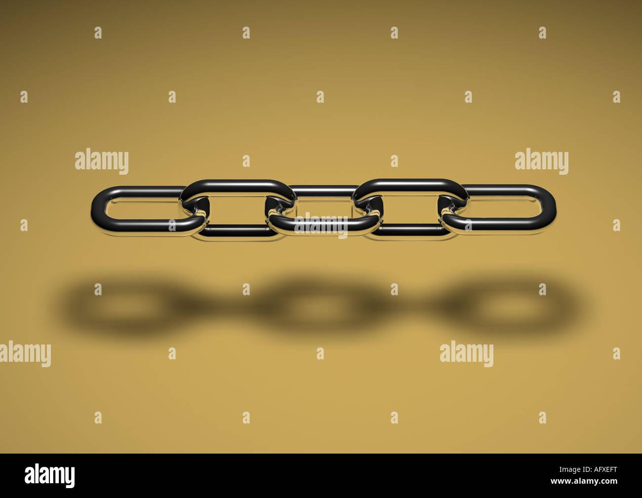 chain links Kette Kettenglieder - Stock Image