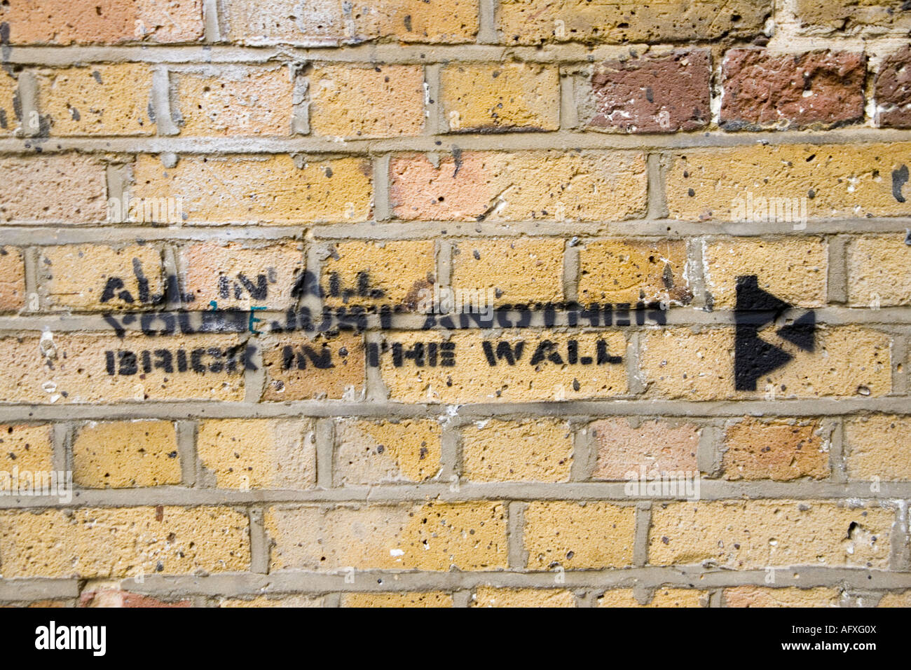 All in all you\'re just another brick in the wall\' London street art ...