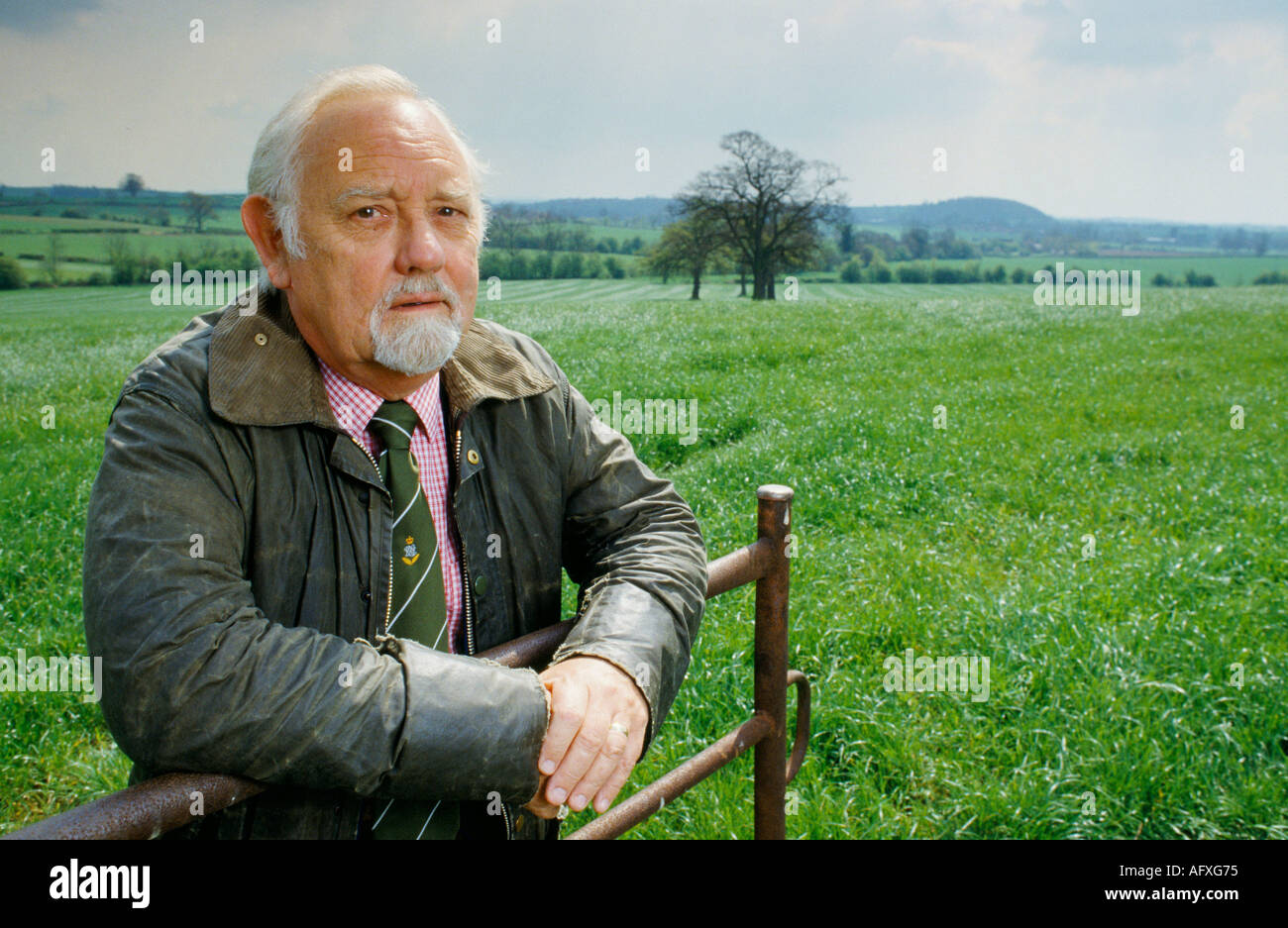 British actor Norman Painting near him home in the Midlands HOMER SYKES - Stock Image
