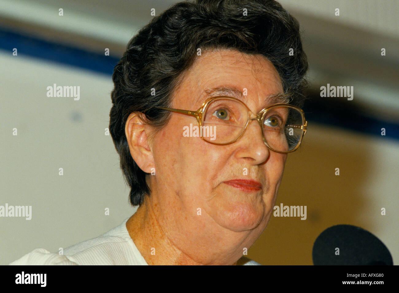 Colour portrait of  British Labour politician MP Joan Mayard - Stock Image