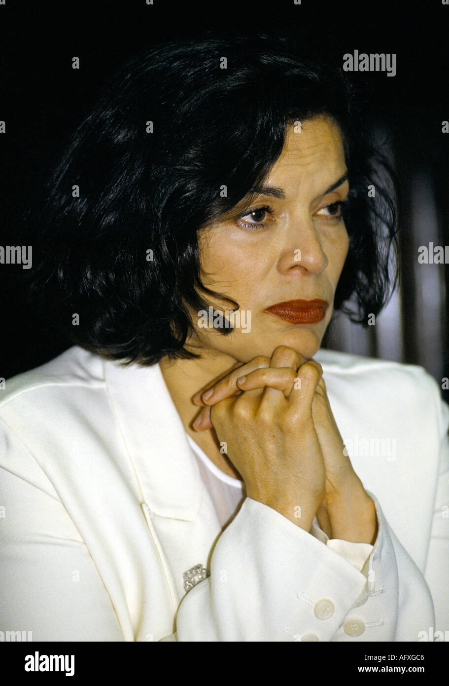 colour portrait of 'Bianca Jagger' human rights activist  circa 1995 - Stock Image