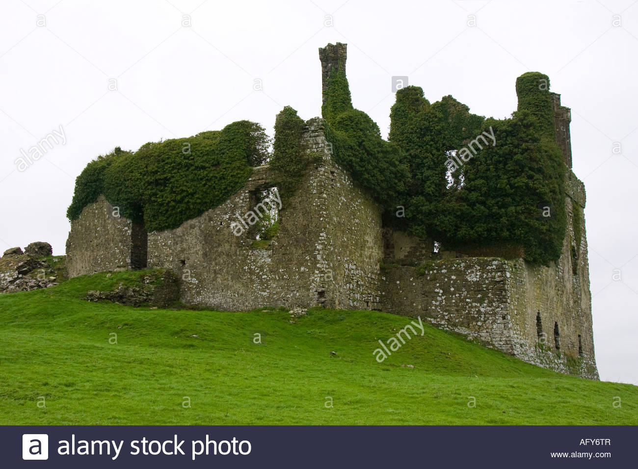 Carbury Castle Carbury County Kildare - Stock Image