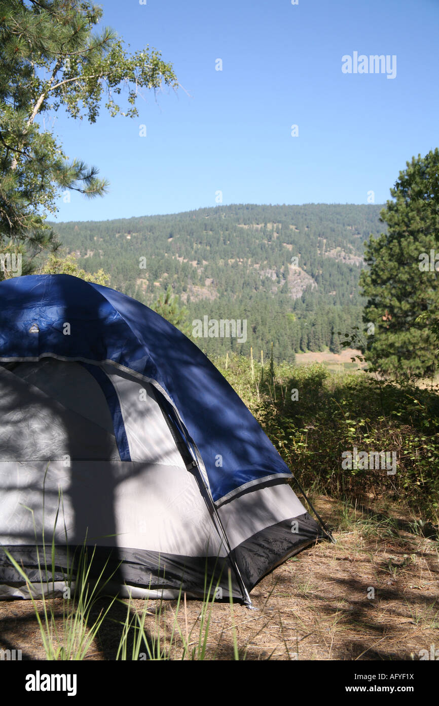 Tent at camp site. - Stock Image