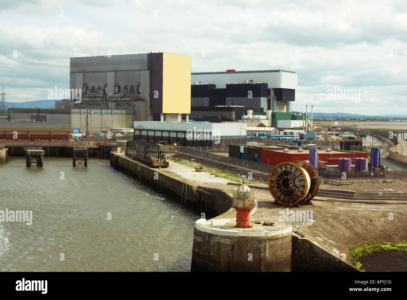 Heysham nuclear power station, Lancashire UK - Stock Image