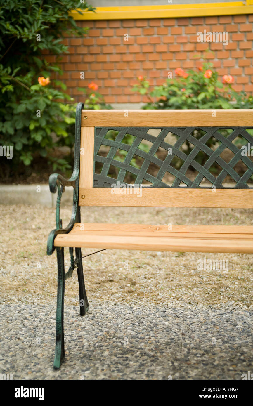 Strange Half Bench In A Small Garden Stock Photo 8026822 Alamy Squirreltailoven Fun Painted Chair Ideas Images Squirreltailovenorg