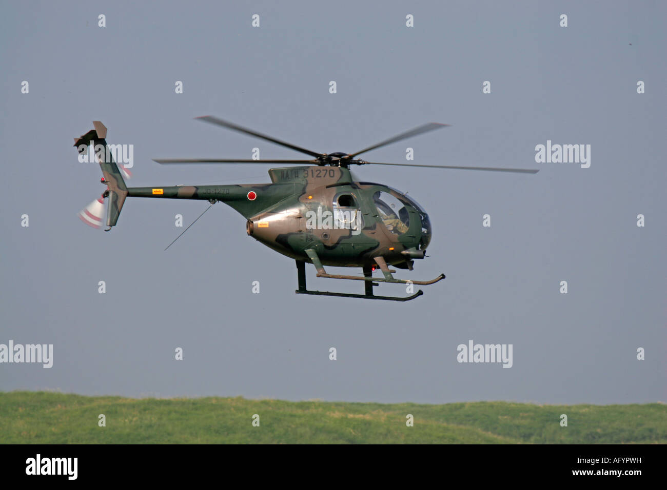 Kawasaki OH-6 Helicopter of Japan Ground Self Defence Force - Stock Image