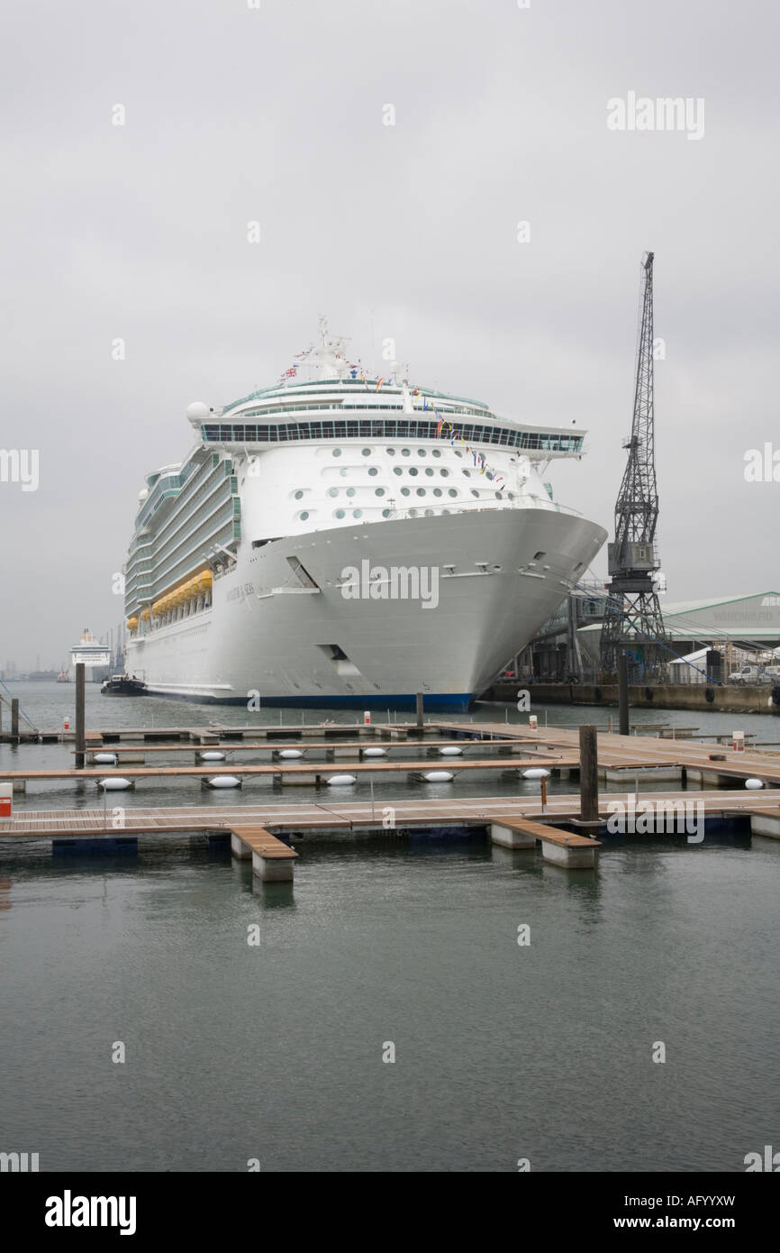 Navigator of the Seas, cruise ship berth in the port of Southampton - Stock Image