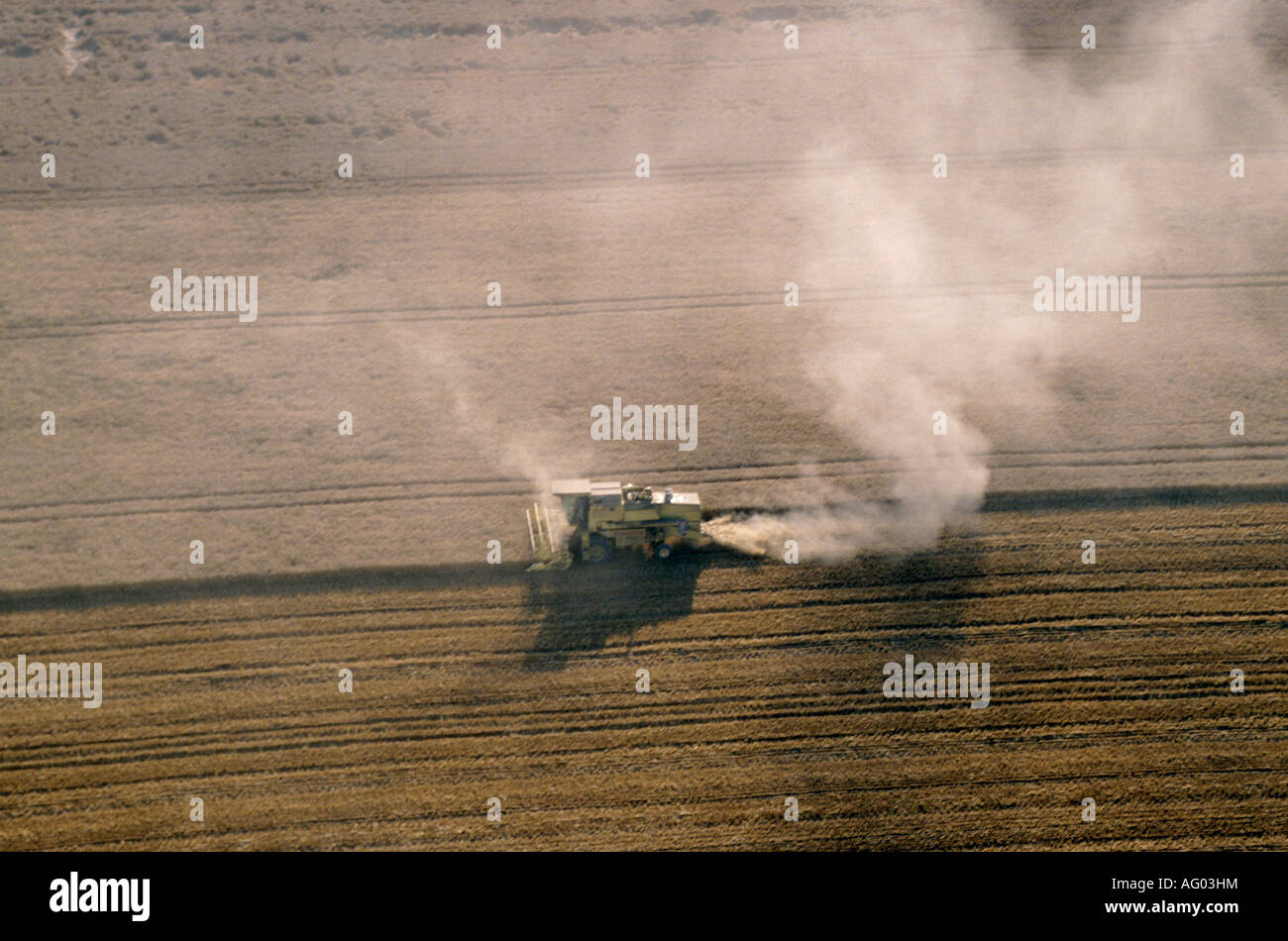 aerial view ,aerien,aerial,vue aerienne,  moisson france loiret - Stock Image