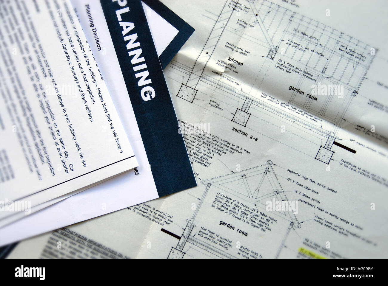 planning application documents - Stock Image