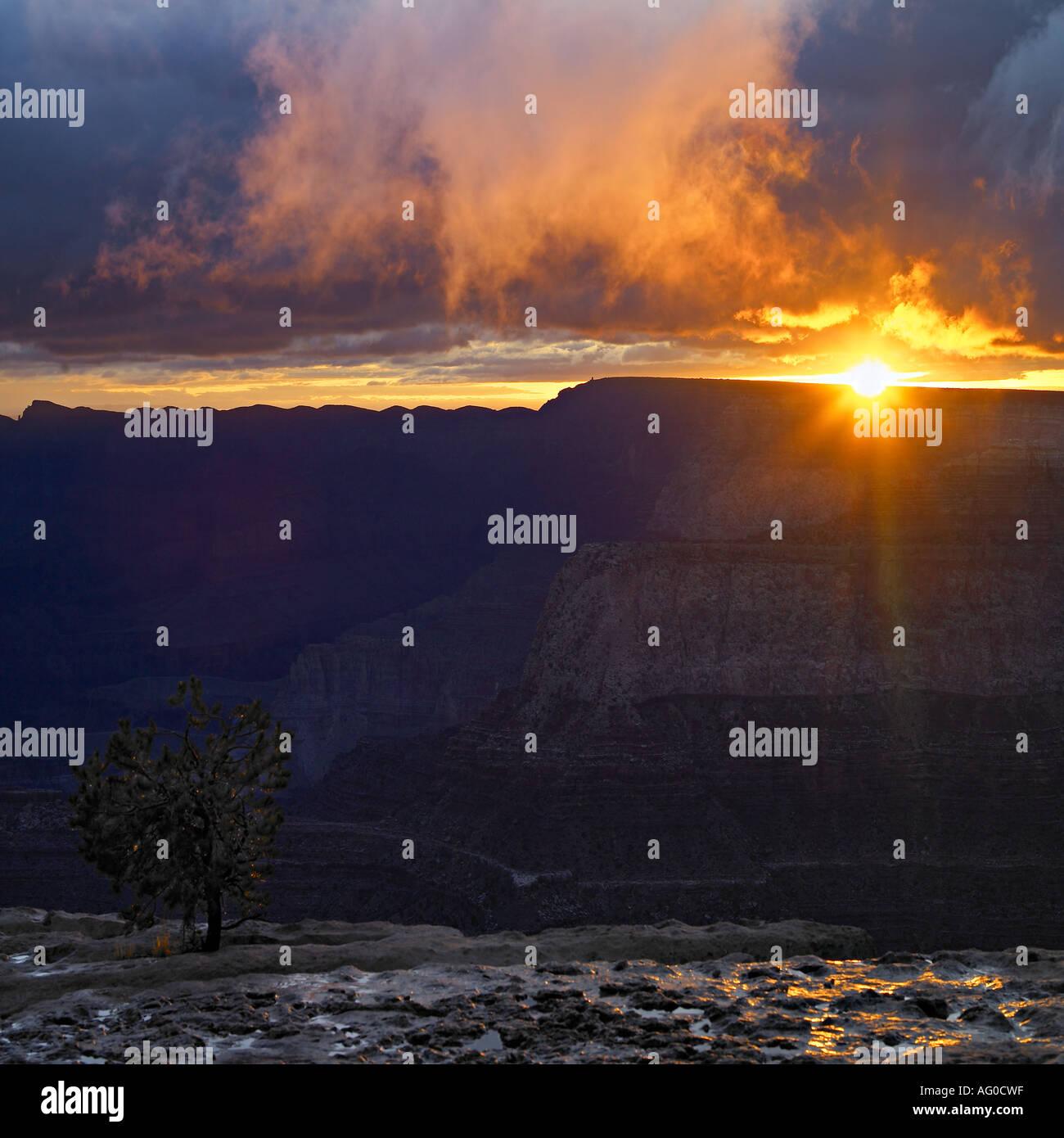 Sunrise over Grand Canyon, Arizona - Stock Image