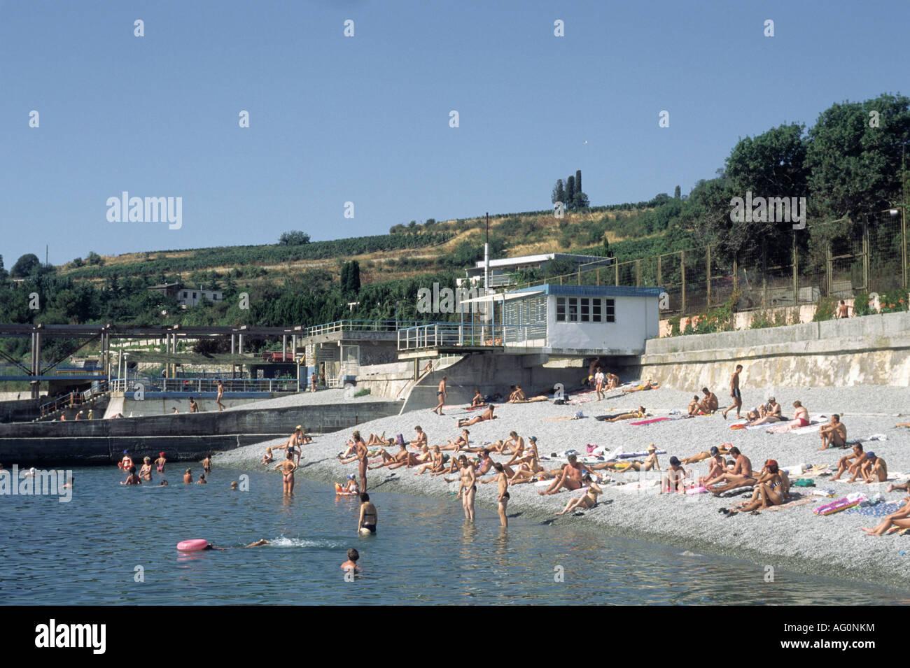 Gourzouf Crimea sea Ukraine - Stock Image