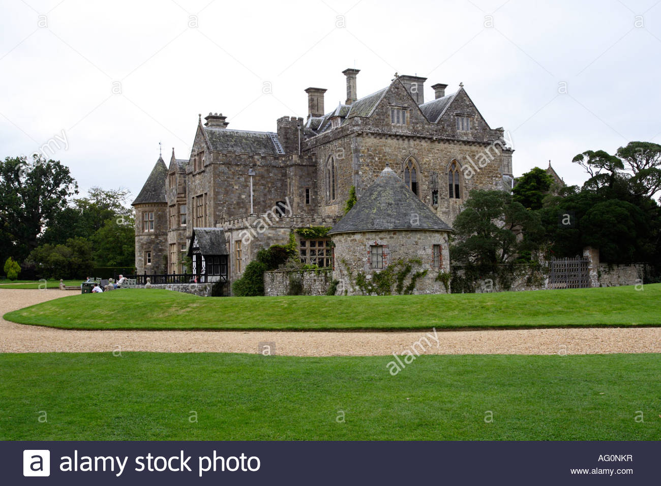 Palace House home of Lord Montagu of Beaulieu, next to the National Motor Museum; Hampshire England - Stock Image