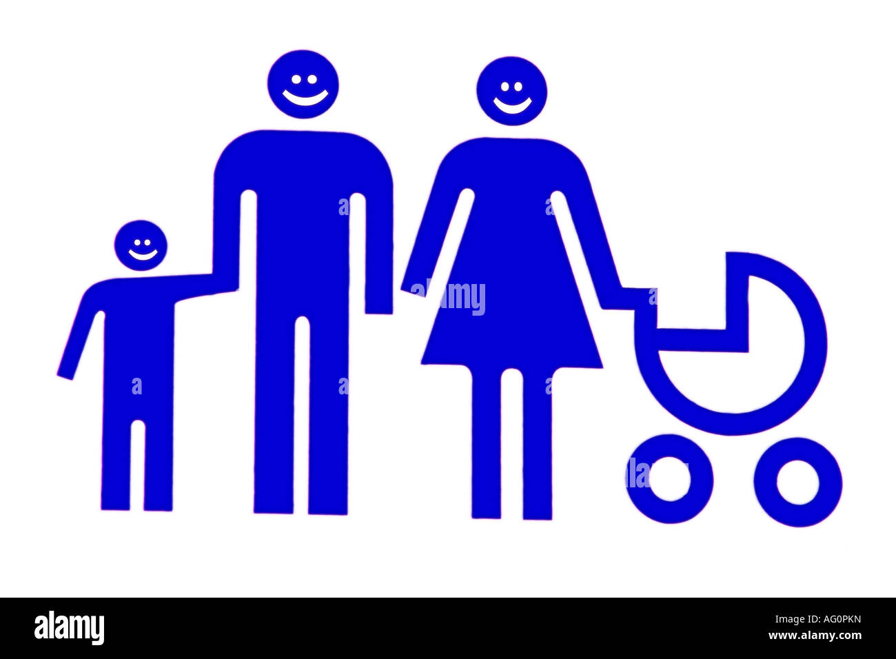 Nuclear family unit illustration - Stock Image