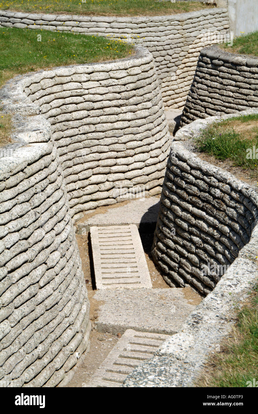 Vimy Ridge near Arras northern France. First World War trenches on the Canadian memorial grounds. - Stock Image