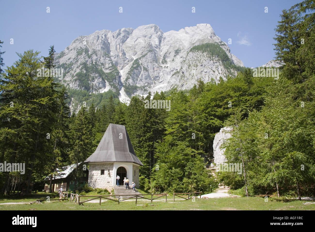 Partisans Chapel in summer in  Triglav National Park  in Julian Alps.  Mojstrana Dolina d6b2d955c87