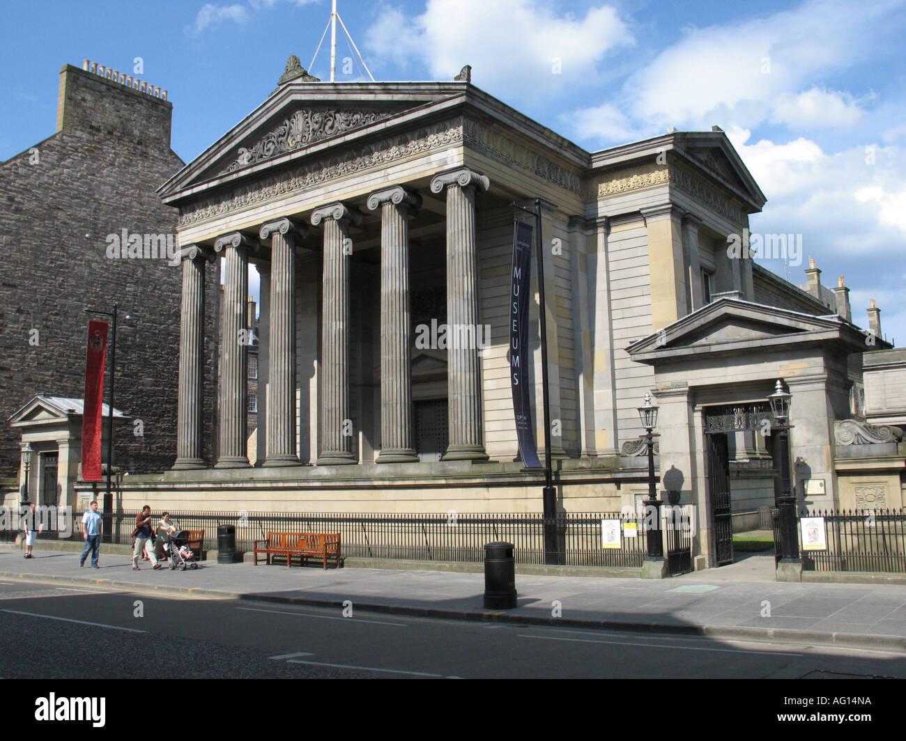 Royal College of Surgeons on Nicholson Street, Edinburgh, Scotland, UK. - Stock Image