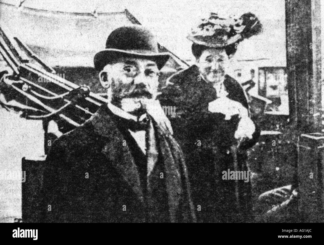 Zahmenhof, Ludwig Lejzer, 15.12.1859 - 14.4.1917, Polish ophthalmologist, initiator of Esperanto, with his wife, circa 1900, Additional-Rights-Clearances-NA - Stock Image