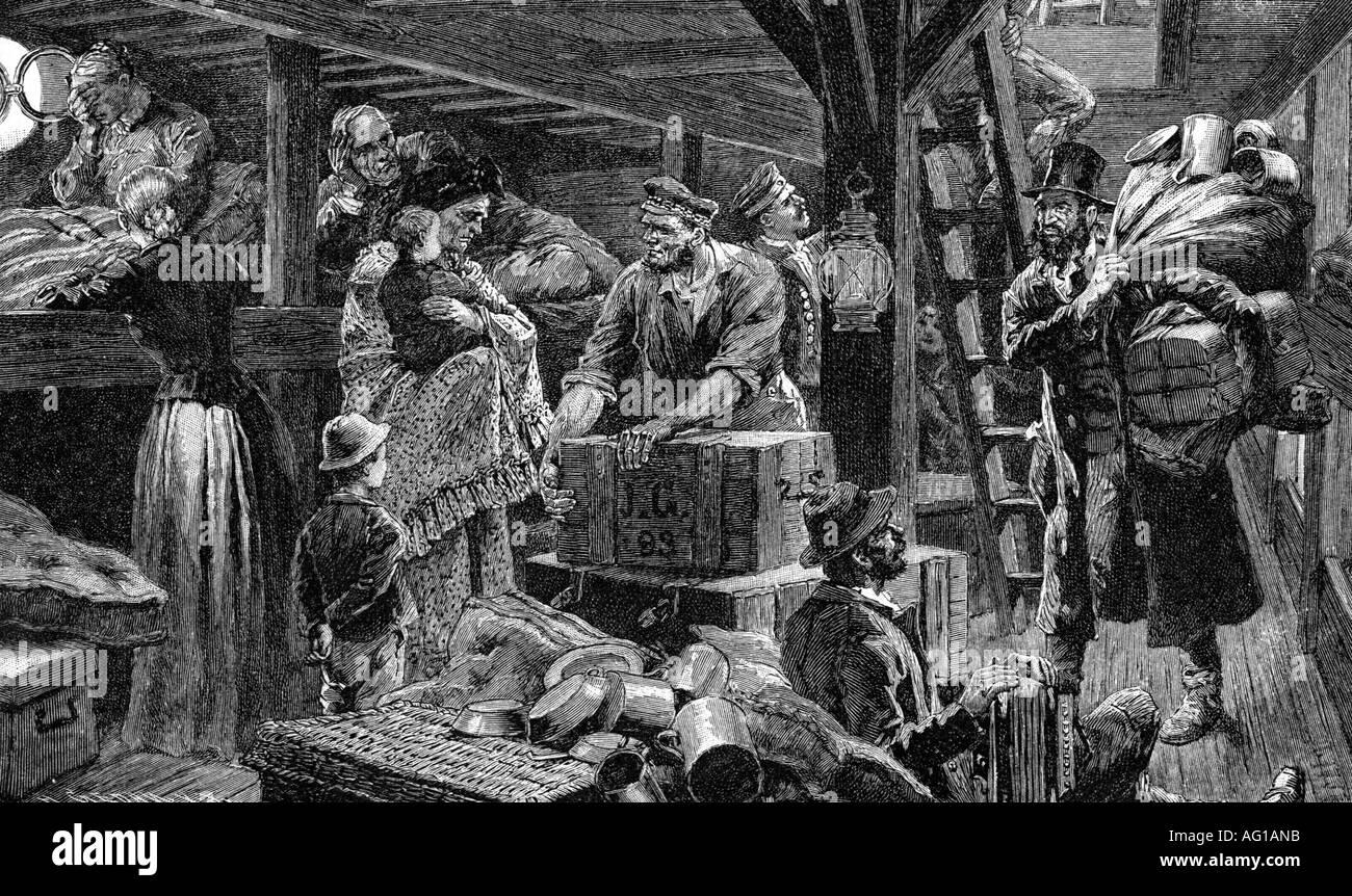 Steerage Ellis Island