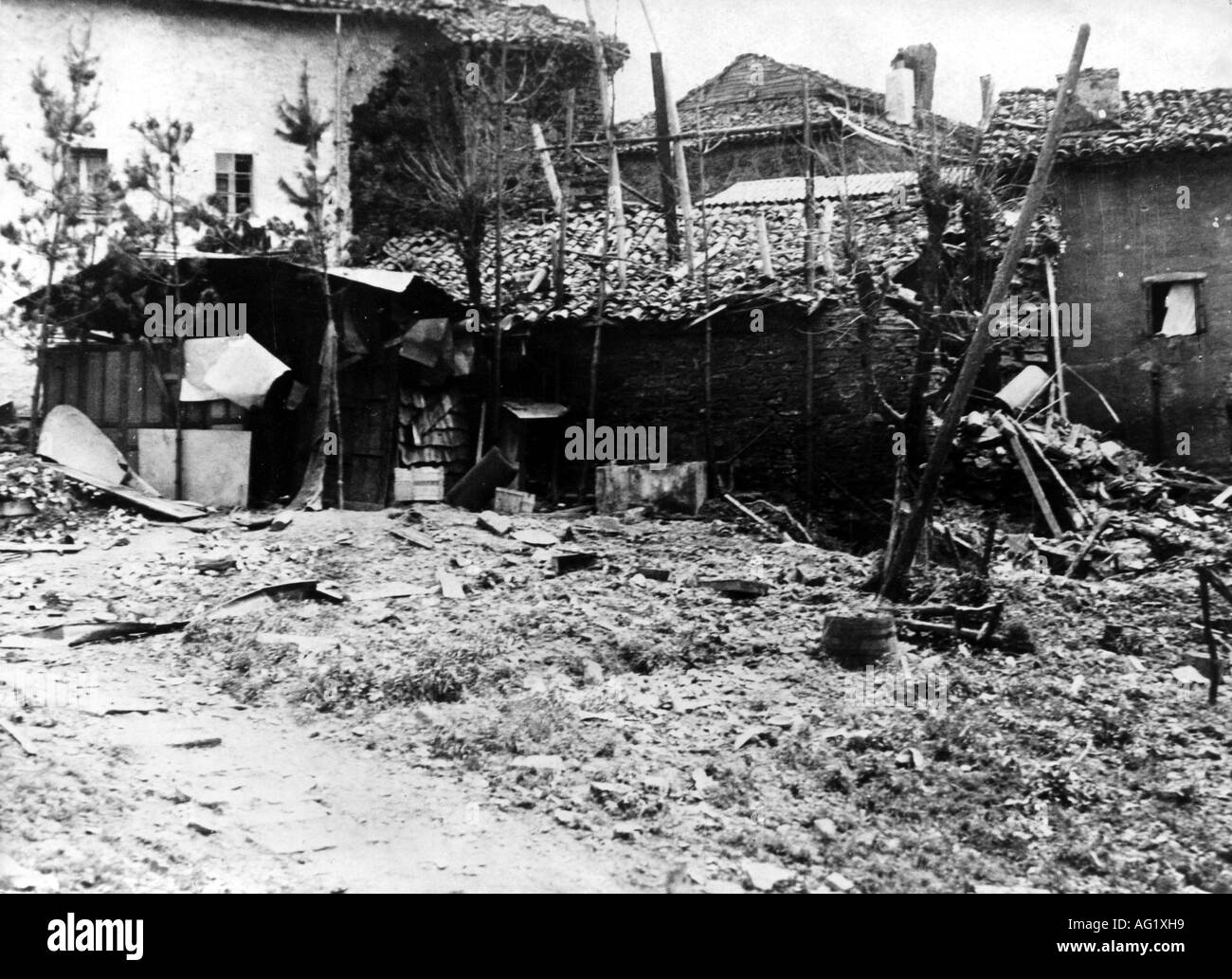 geography / travel, Spain, Spanish Civil War 1936 - 1939, Guernica, ruins after the air raid by the 'Legion Condor' 26.4.1937, Additional-Rights-Clearances-NA - Stock Image