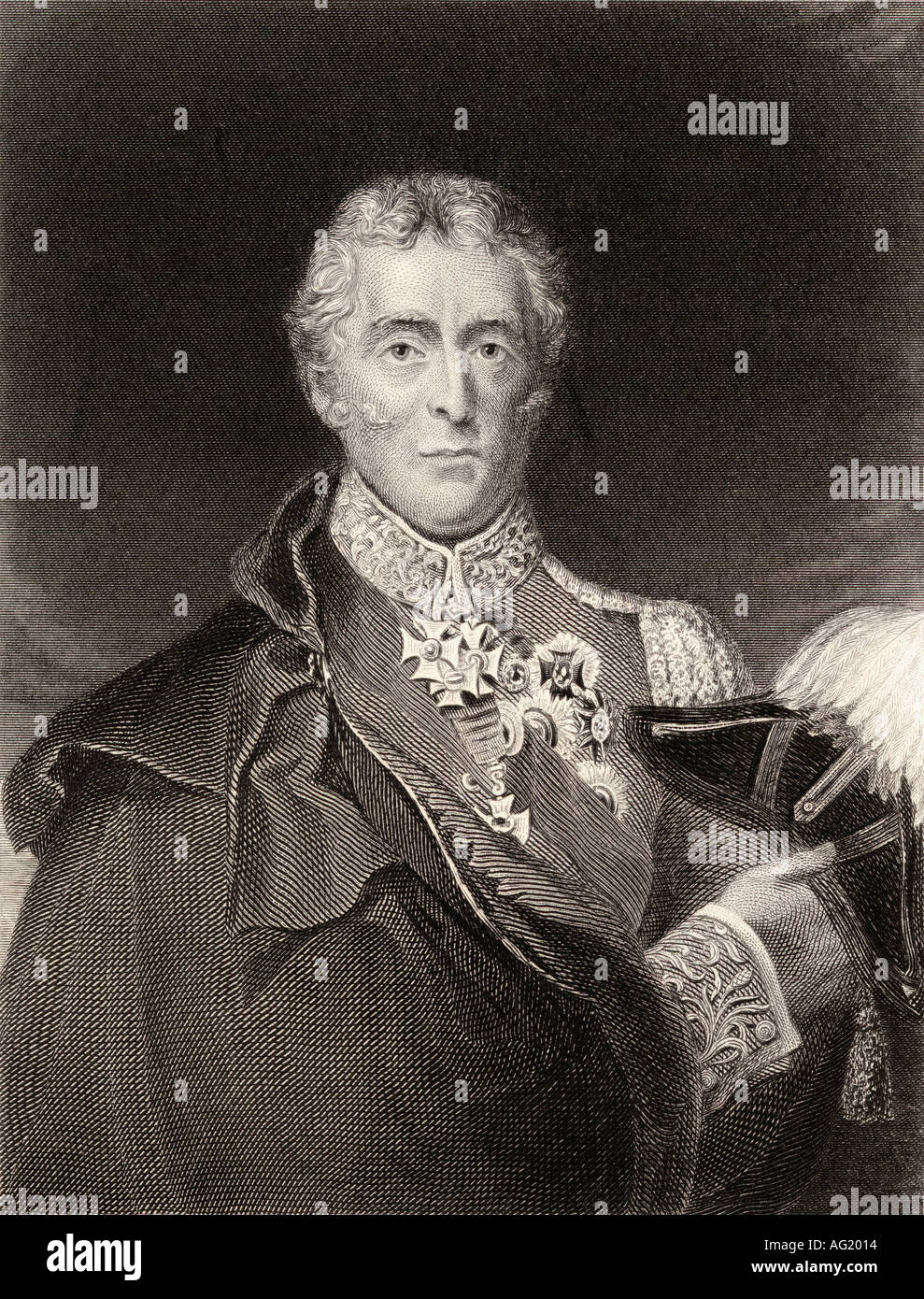 Arthur Wellesley, 1st Duke of Wellington, 1769 -1852. British soldier and statesman. - Stock Image