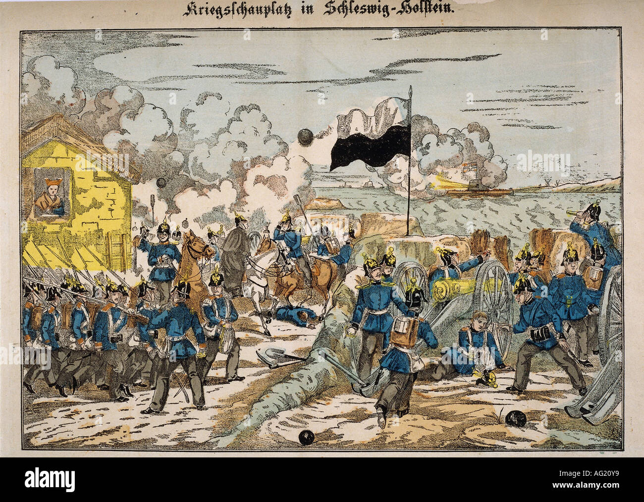 Events Second War Of Schleswig 1866 Engangement In The Flensburg