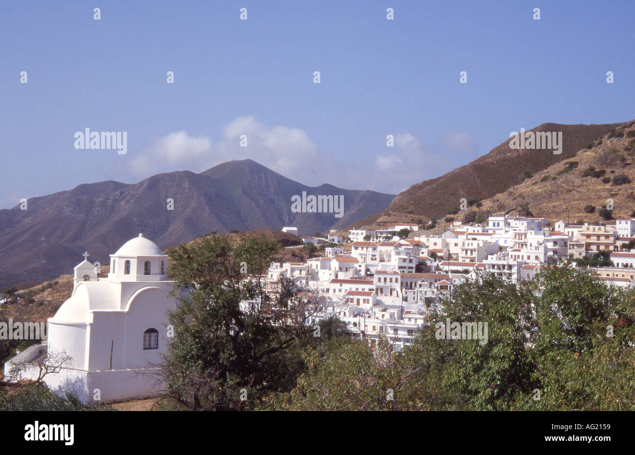 Greece Karpathos Village of Aperi Stock Photo