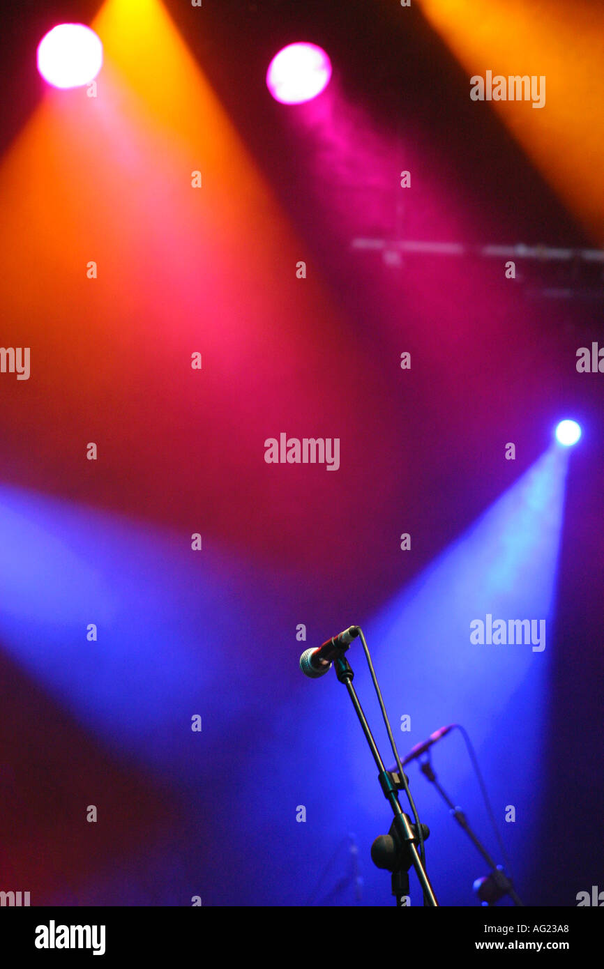 Multicolored stage lights Multicoloured stage lights - Stock Image