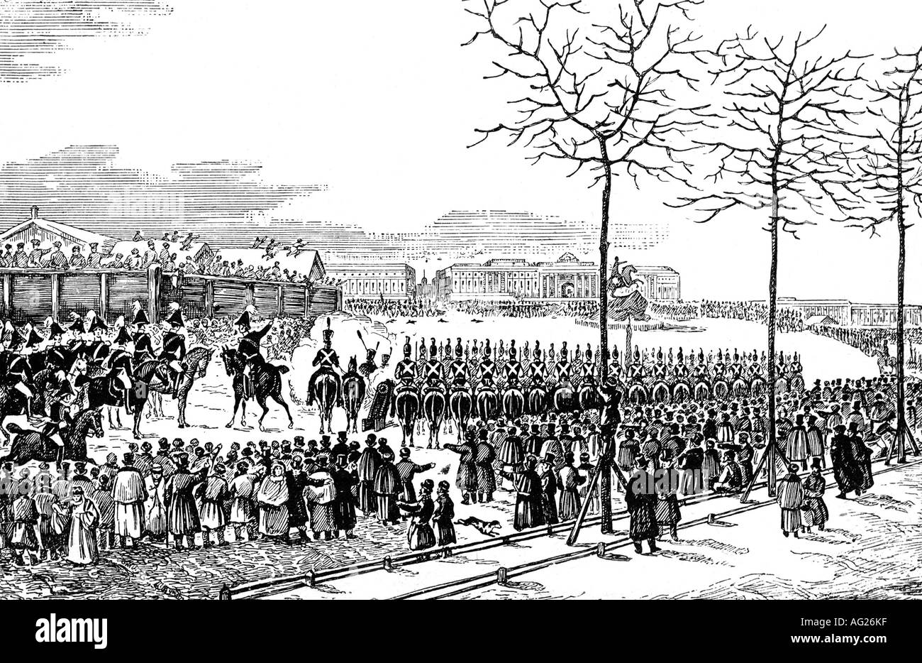 Decembrist uprising on Senate Square in 1825 27