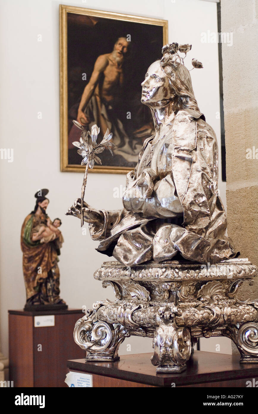 Statue in Interior Museum of Cathedral of Seville in Andalusia Spain Stock Photo
