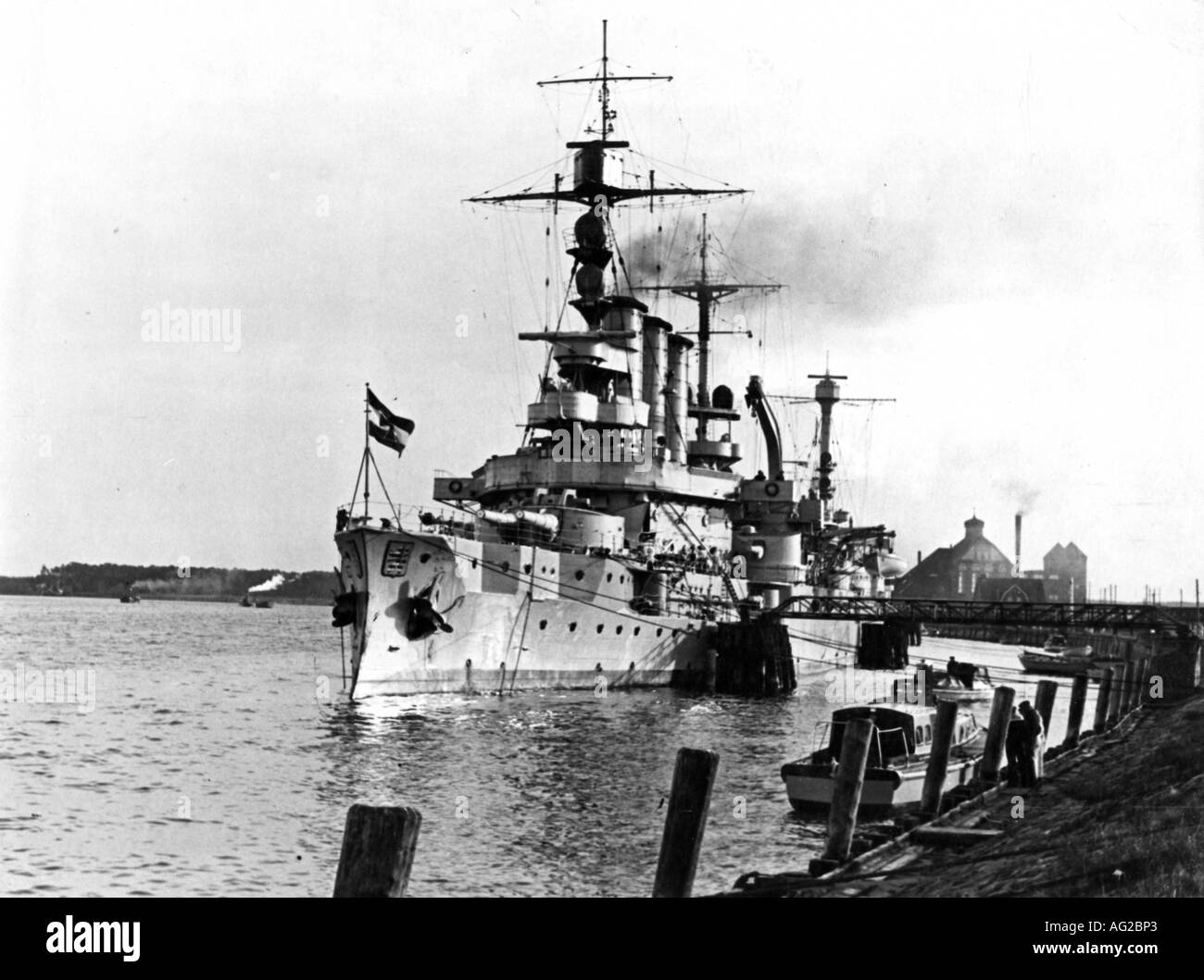 """transport/transportation, navigstion, warships, Germany, ship of the line SMS """"Hessen"""", commissioned 1905, during Stock Photo"""