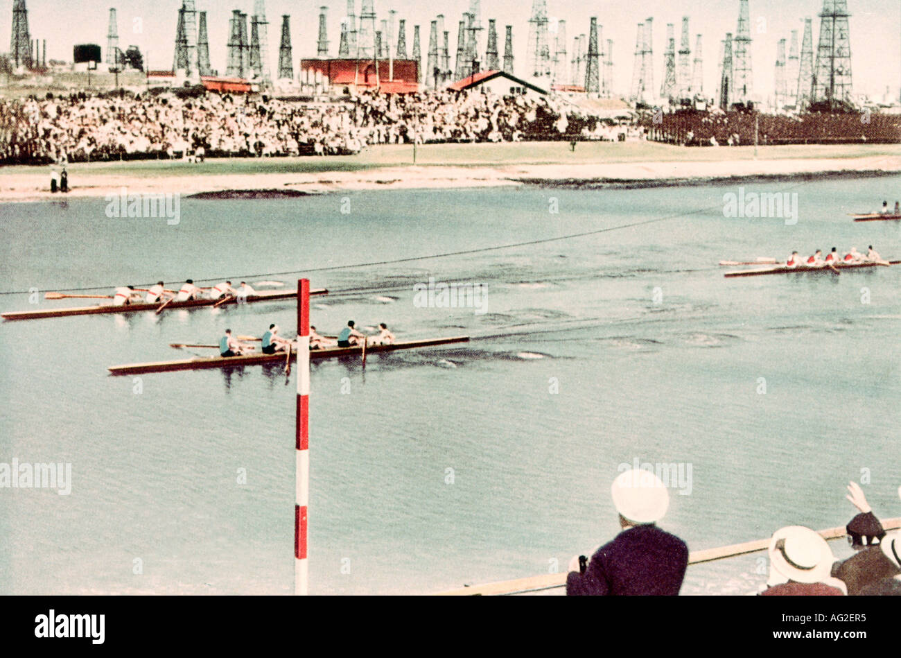 Sports, Olympic Games, finale, rowing, Los Angeles, USA, 1932, Additional-Rights-Clearances-NA - Stock Image