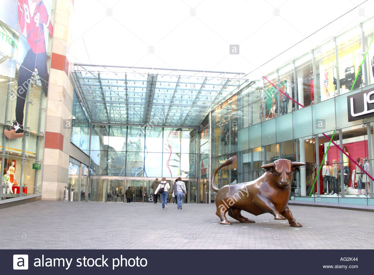 new bull ring shopping centre birmingham - Stock Image