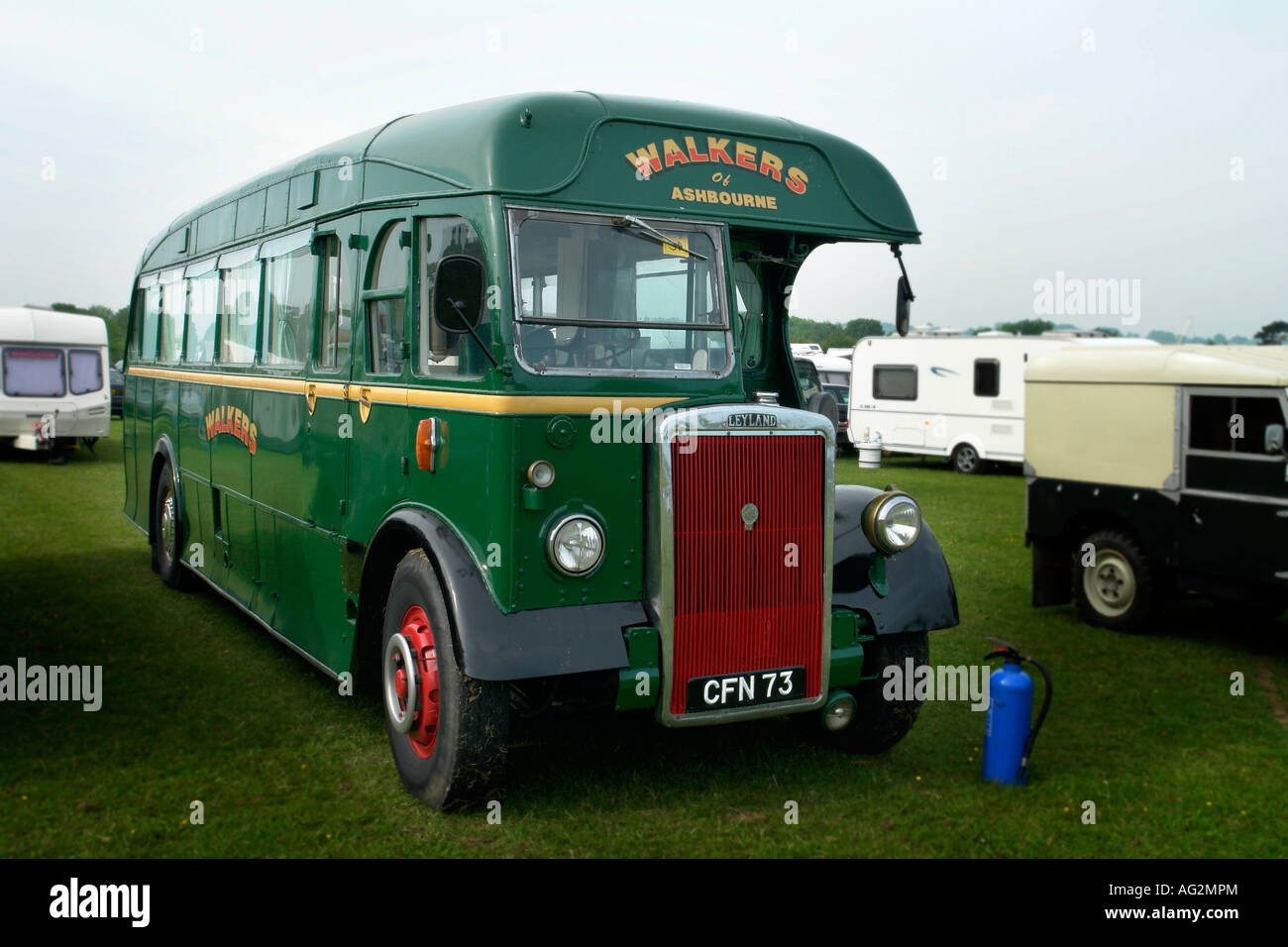 1947 leyland psi coach at belper steam and vintage event 2007 Stock Photo