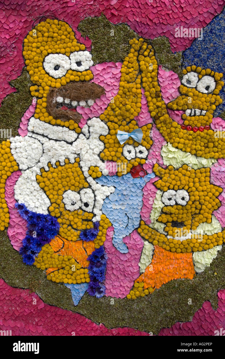 the simpsons at bonsall derbyshire 2007 - Stock Image