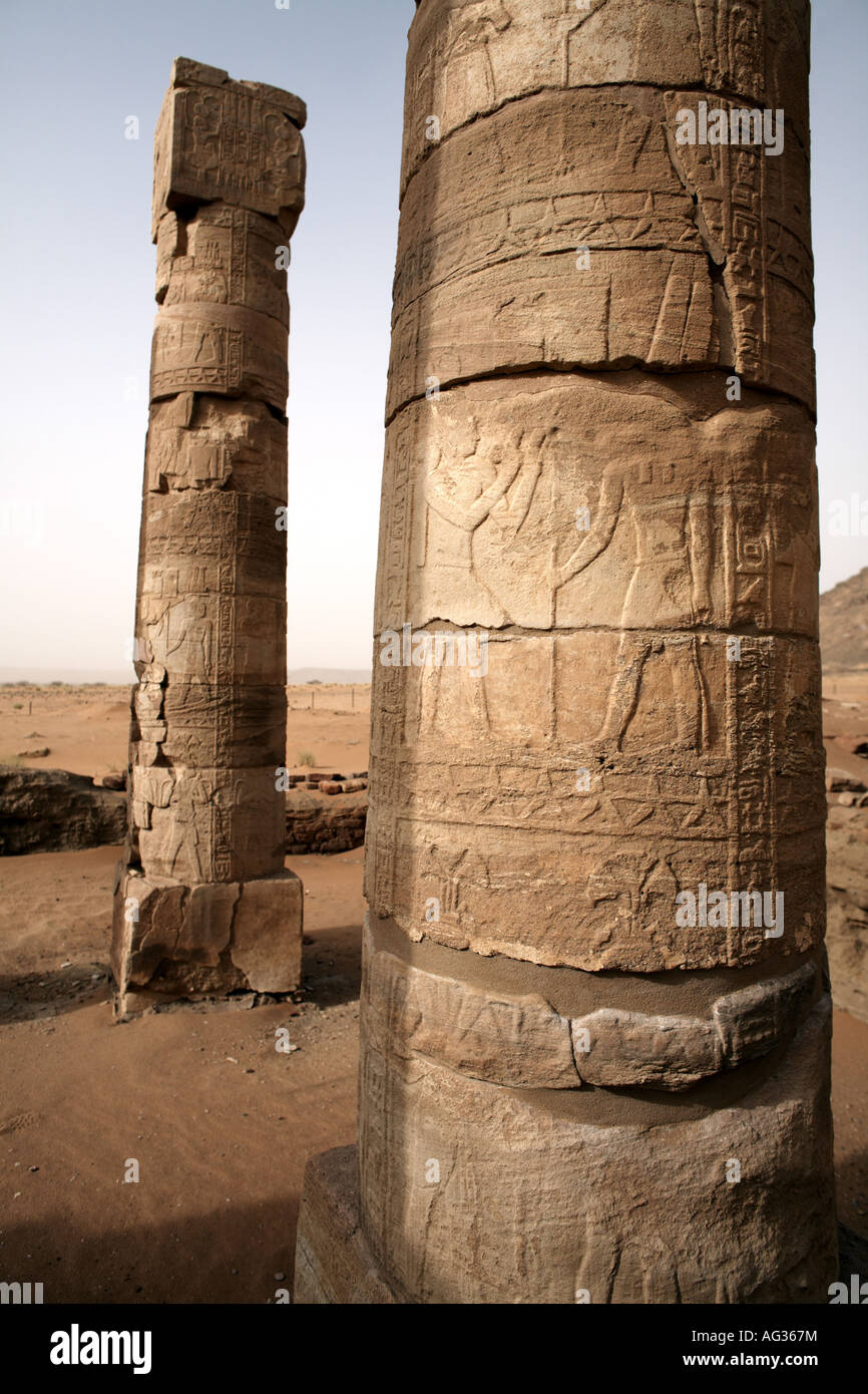 The Temple of Amun at Naqa, Sudan, Africa - Stock Image