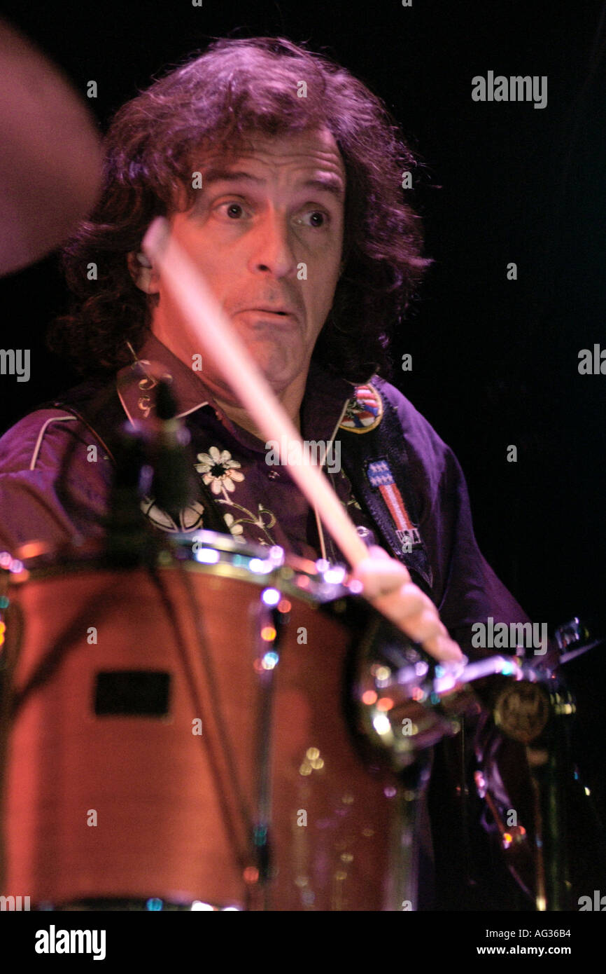Corky Laing Canadian drummer with the legendary American rock band Mountain Stock Photo