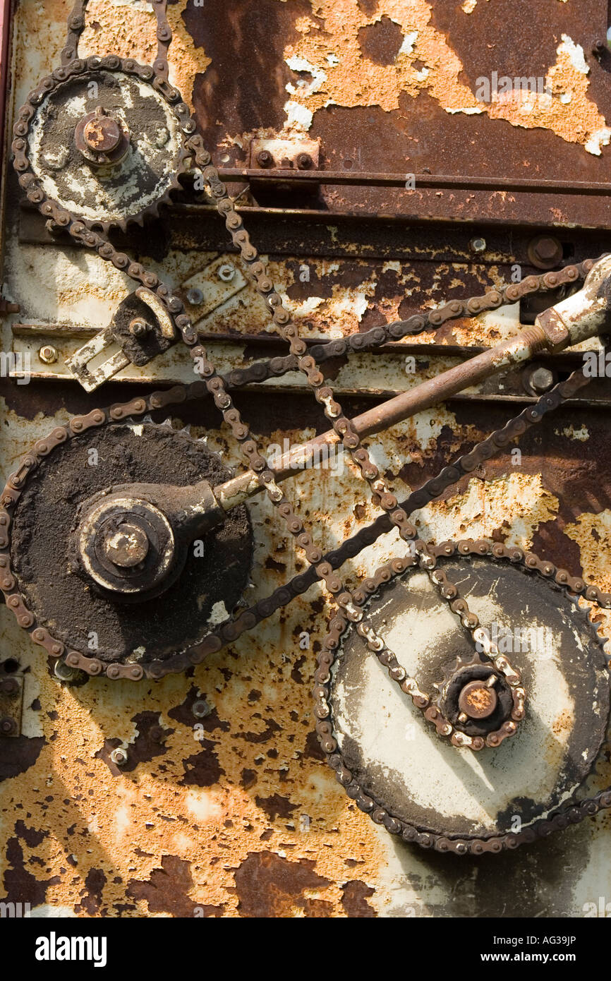 vintage industrial abstract - Stock Image