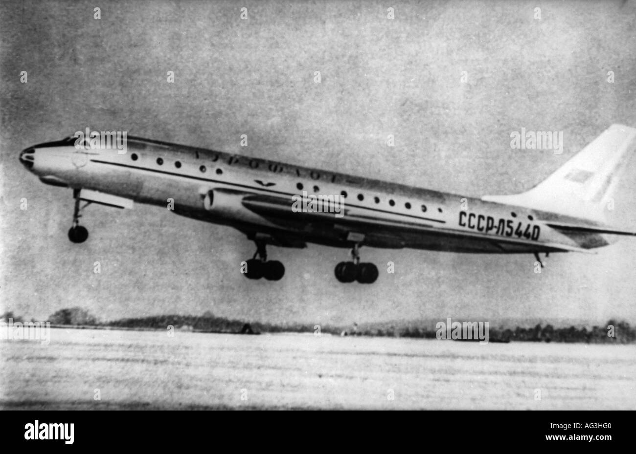 aviation, aircraft, airliners, Tupolev TU-104, Aeroflot, commissioned 1956, airliner, airplane, aircraft, USSR, TU 104, , Additional-Rights-Clearances-NA - Stock Image