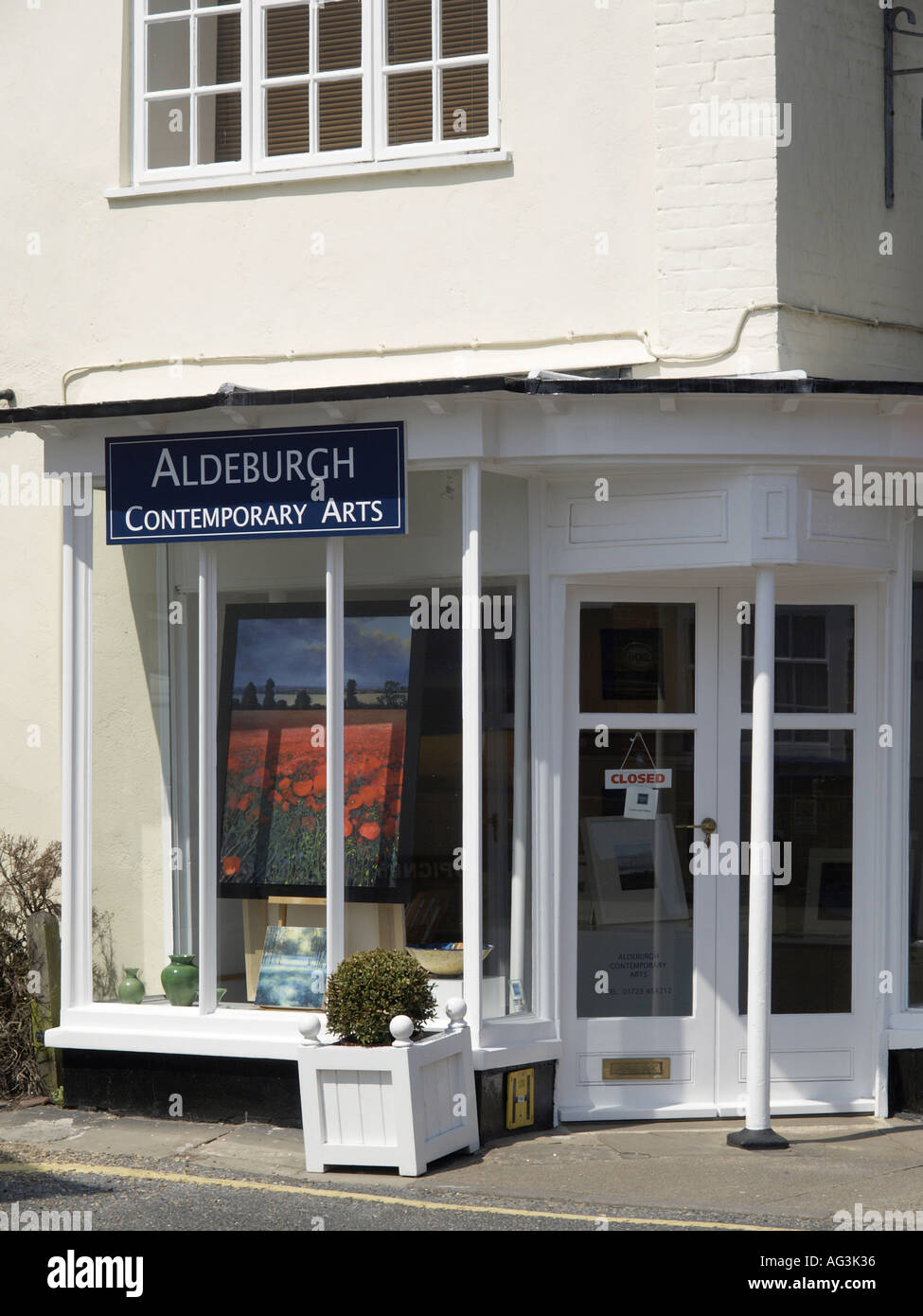 GALLERY SHOP FRONT ALDEBURGH SUFFOLK EAST ANGLIA ENGLAND UK - Stock Image