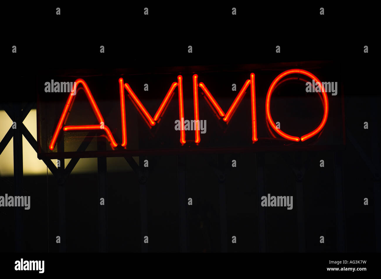 Ammo Sign From A Gun Store Stock Photo 14083980 Alamy