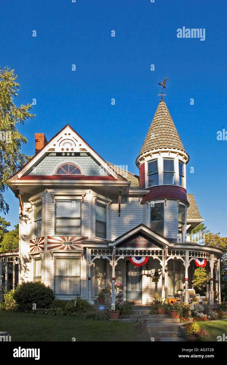 Victorian Home Corydon Indiana - Stock Image