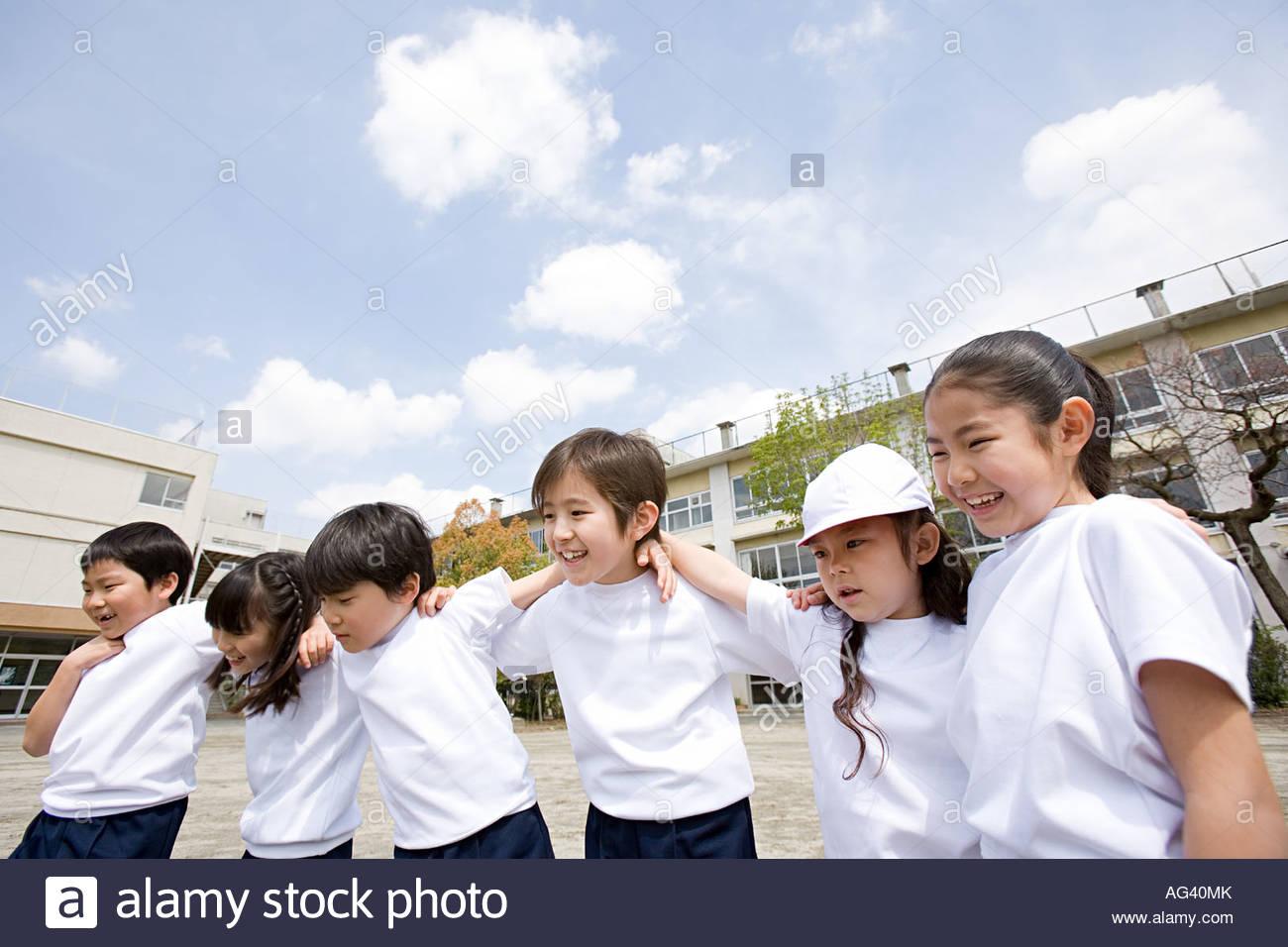 School children - Stock Image