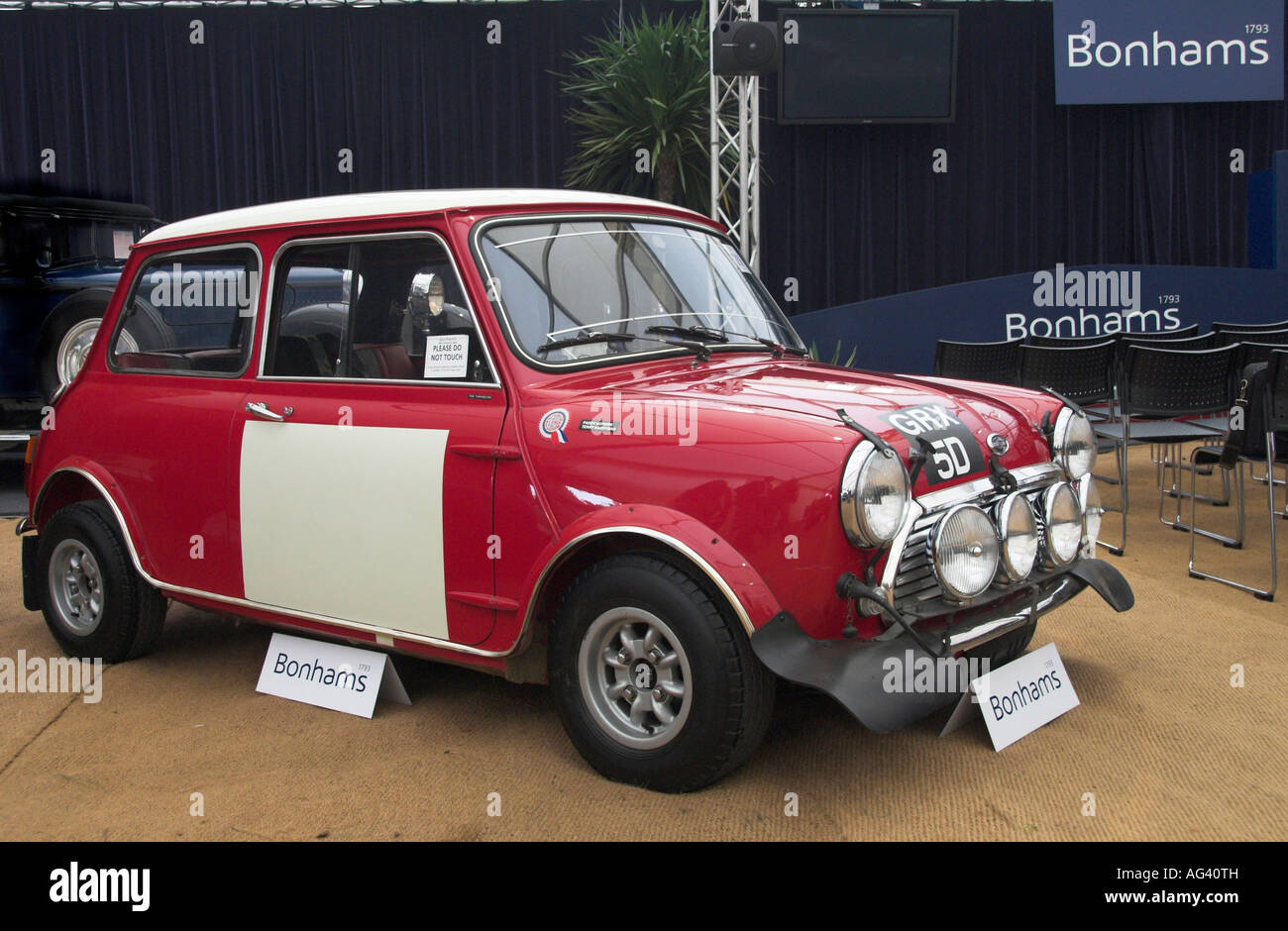 Paddy Hopkirk 1967 Circuit of Ireland winner 1966 Austin Mini Cooper S Goodwood Sussex England 2007 Stock Photo
