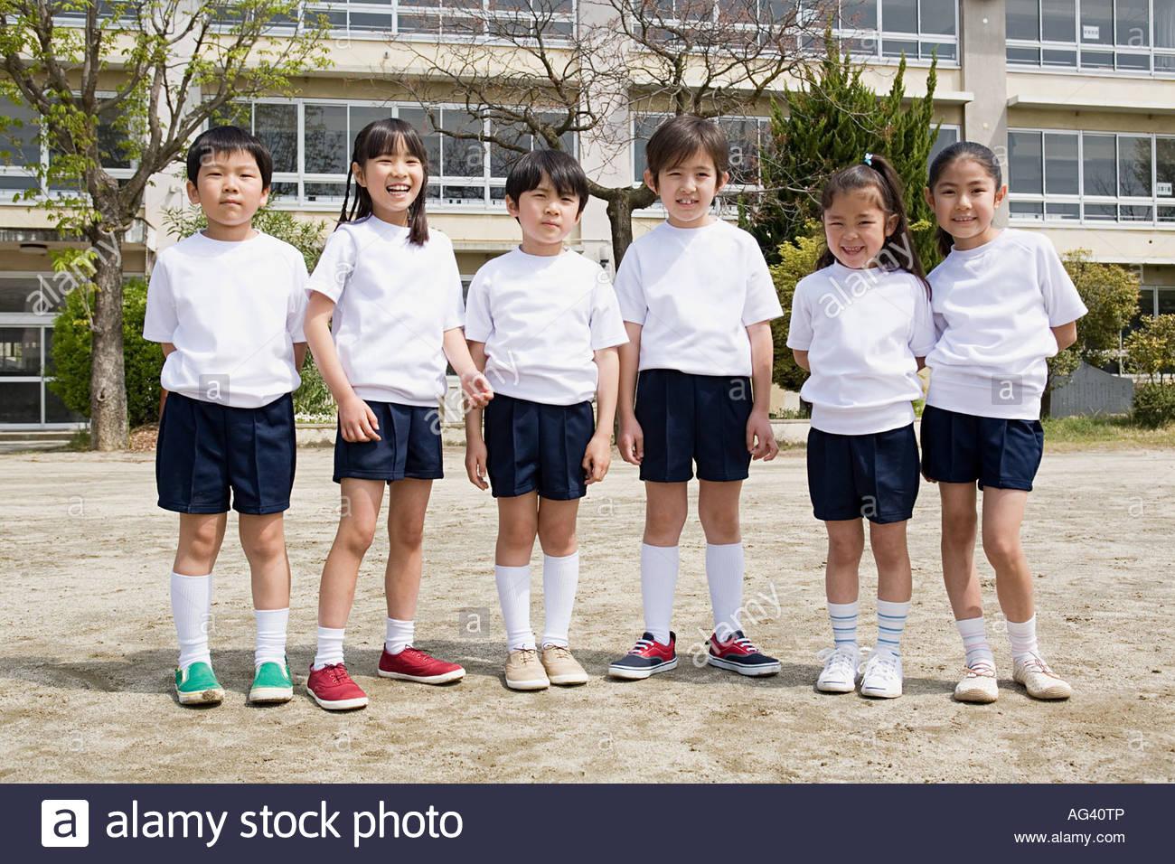 A portrait of a school children - Stock Image