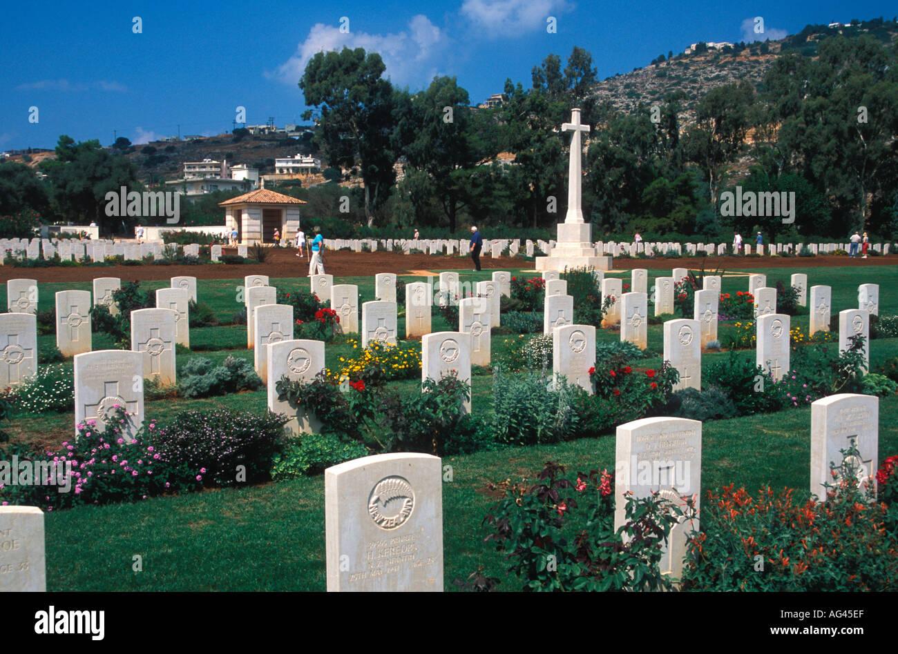 Soudha Bay Allied War Cemetery Crete Greece Stock Photo