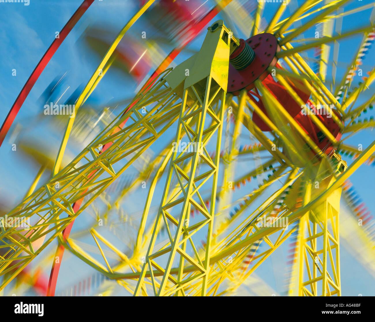 Ferris Wheel Horizontal - Stock Image
